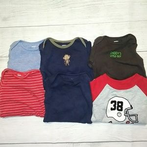 Lot of 5 long sleeve onesies and sweater